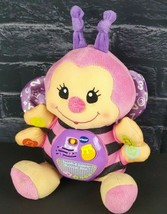 Vtech Touch & Learn Musical Bee Pink Purple Baby Plush Toy Lights Sound ... - $5.94