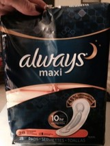 Always Maxi 10 Hr 27 Pads Open Pkg - $3.00