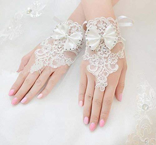 The Bride Marriage Yarn Dress Lace Short Gloves Wedding Gloves Mitten White