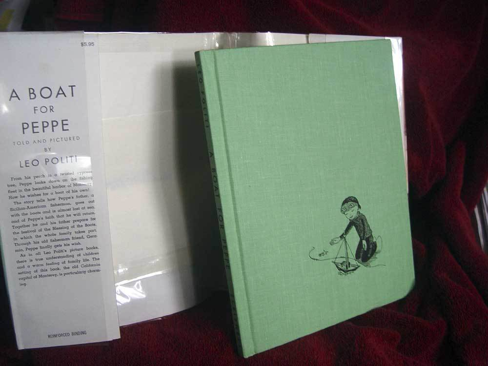 A BOAT FOR PEPPE by Leo Politi (1950, Hardback) SIGNED