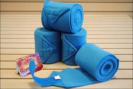 Turquoise Hilason Western Show Tack Horse Polo Leg Wrap Set Of 4 U--019 - $31.95