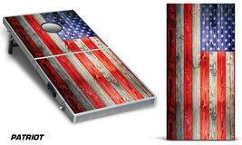 Cornhole Bean Toss Game Corn Hole Vinyl Wrap Decal USA American Flag 2-Pack - £61.86 GBP