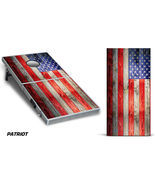 Cornhole Bean Toss Game Corn Hole Vinyl Wrap Decal USA American Flag 2-Pack - £61.06 GBP