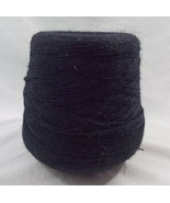 Preowned Large Thread Yarn Cone Black Very Thin  Unknown Maker - $14.25