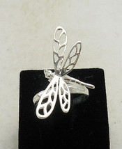 R000814 Stylish Sterling Silver Ring Solid 925 Dragonfly - $13.80