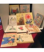 11 VTG Vintage HAPPY BIRTHDAY GREETING CARDS Hallmark Disney - $7.92