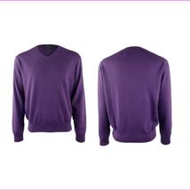 $98 Polo Ralph Lauren Pima Cotton V?Neck Sweater, Squire Purple, Size M. - $45.09