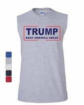Trump Keep America Great Muscle Shirt 2020 Election Republican POTUS Sle... - $12.00+