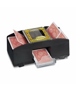 Card cards shuffler 2 decks machine electronic mixing deck cards coupier - $90.42