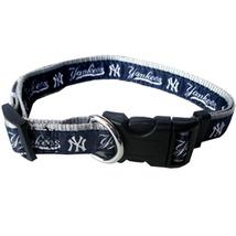 MLB NY Yankees Adjustable Nylon Dog Collar (Small SM) Pets First, Inc. - $10.25