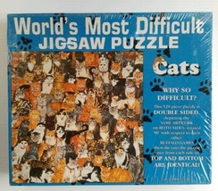 """Worlds Most Difficult Jigsaw Puzzle """"Cats"""" 529 Pieces Buffalo Games New ... - $34.53"""