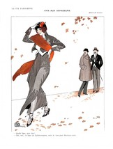 French Pinups: La Vie Parisienne - Girl in Grey  - Leonnec - 1913 - $12.95+