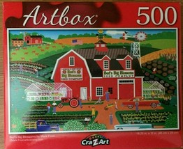 """Bud's Big Blossoms Mark Frost Puzzle Artbox 18.25"""" X 11"""" 500 Pc Expert - $7.96"""