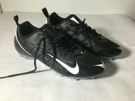 Nike Speed TD Low Original Football Cleats Size 15 Black White - $38.70
