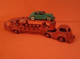 """All Original HUBLEY Auto Transport Car Carrier Truck 10""""1/4 Cast Iron 1930 - $295.00"""