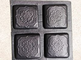 "Victorian 5""x5"" Tile Molds (12) Make Hundreds of Cement Plaster Floor Wall Tiles image 7"