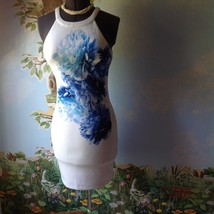 Guess Women's Sleeveless White and Blue Floral Dress Size 6 New  - $63.36
