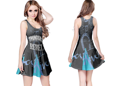 Johnny Thunders Rebel - 70's Punk Womens Reversible Sleeveless Short Mini Dres - $17.99+