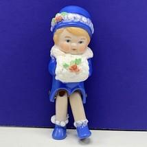Markus porcelain doll figurine 1979 signed christmas caroler muff girl b... - $39.55