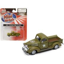 1941-1946 Chevrolet Pickup Truck U.S. Army 1/87 (HO) Scale Model Car by ... - $21.53