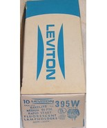 Box of 10 Leviton 395W Bakelite Medium Bi-Pin Fluorescent Lamp holder Socket - $19.99
