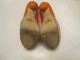 Orange Womens Shoes 5M Heels Faux Suede Size 7 Platform D wACxqTgg