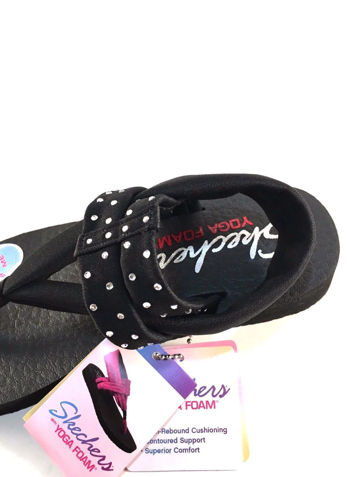 a9bd21870fe Skechers 38612 Black Yoga Foam Thong Sandals and 50 similar items