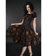 NWT Orange Octopus Steampunk Gothic Rockabilly Pirate Corset Dress - $71.00