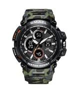 SMAEL Camouflage Military Watch Men Waterproof Dual Time Display Mens Sp... - $32.33