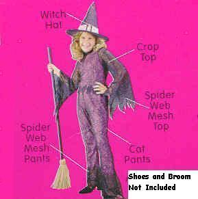 Funky Neon Witch Hot Pink Sm 4/6 Childs Costume