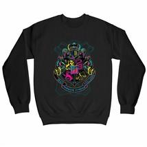 Harry Potter Neon Hogwarts Crest Children's Unisex Black Sweatshirt - $25.07
