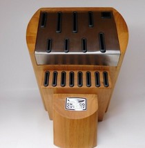 Chicago Cutlery Wood and Stainless Steel Knife Block Storage No Knives NEW - $32.95