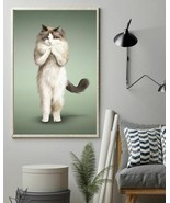 Yoga Pose Ragdoll Vertical Art Print Poster, Indoor Home Decoration Gift - $25.59+