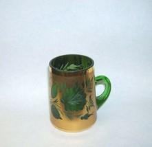 Elegant Green Glass Gold Gilt Cup - $23.55