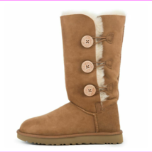 UGG Women's Wood Buttons With Elastic Closure Sheepskin Insole Boot - $193.50