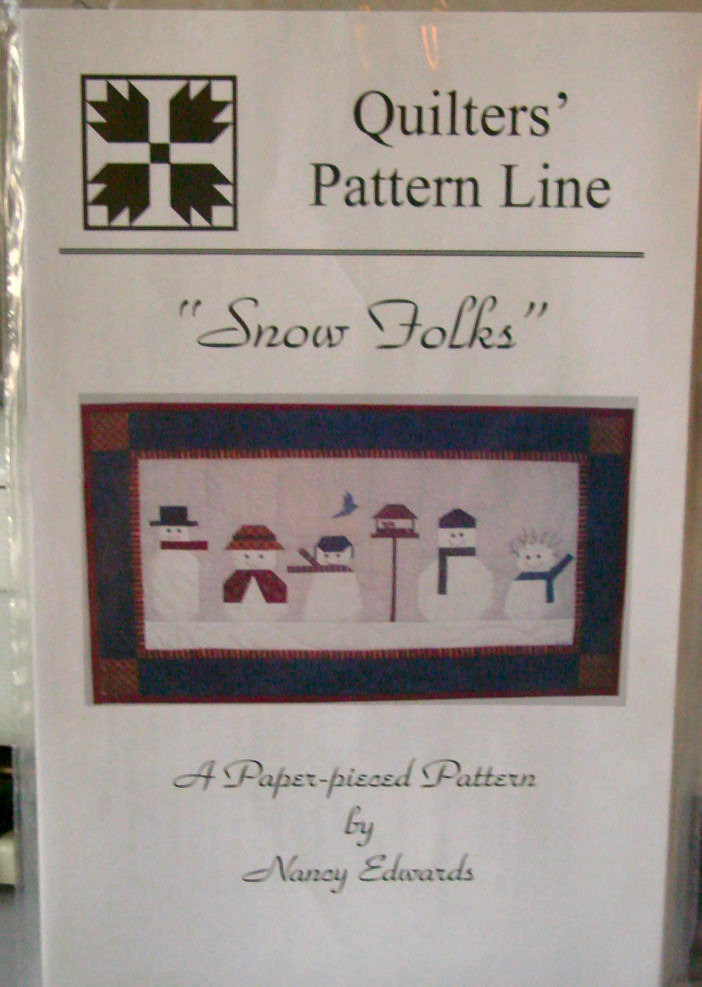 Pattern Snow Folks Paper Pieced Wall Hanging 27.5' x 15.5'