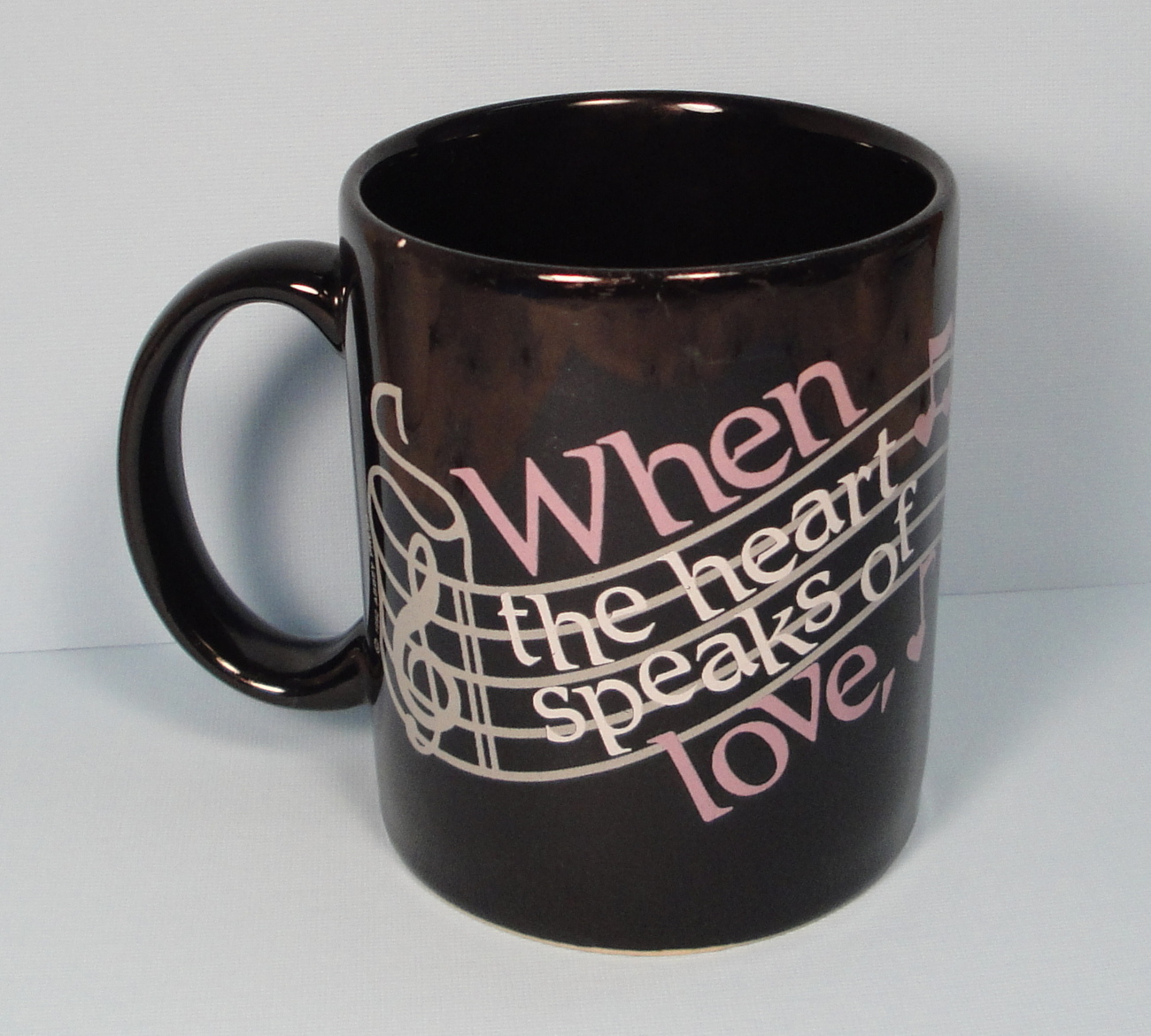 Valentine Coffee Mug Love Heart Music Notes 1992 Abbey Press