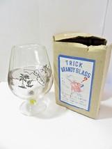 VINTAGE IN BOX FLORIDA SOUVENIR TRICK BRANDY GLASS GAG PARTY JOKE TAIWAN - $24.00