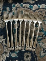IS Eternally Yours Set of 8 Grille Forks 1847 Rogers Silverplate Flatware - $32.18