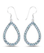 Sterling Silver 4.32 Carat Genuine London Blue Topaz Earrings - $149.95