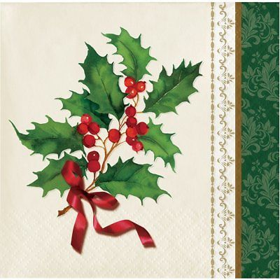 Holiday Traditions Beverage Paper Napkins, 16 Ct per package
