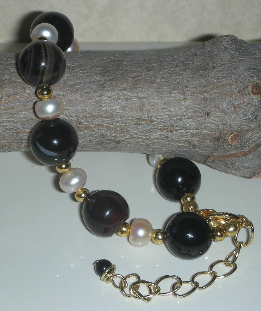 Onyx black pearls