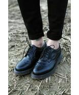 Vtg Doc Dr Martens Oxford Brogue Shoes Wingtip Black Leather England US 11 - $62.36