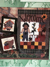 "Pattern Harvest Welcome Wall Hanging 17""x 24"" p... - $6.95"