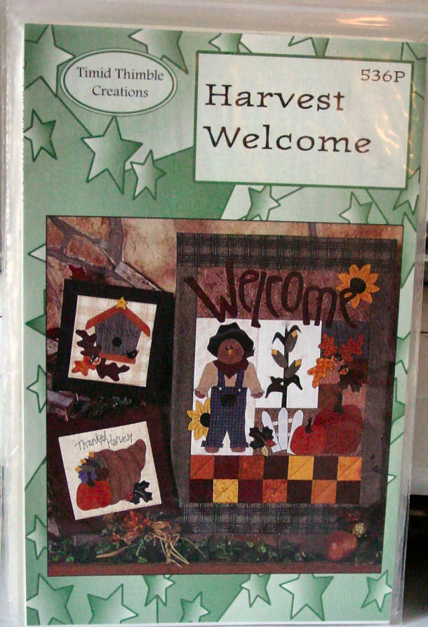 """Pattern Harvest Welcome Wall Hanging 17""""x 24"""" plus two small designs"""