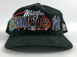 New York Yankees 1998 World Series Champions New Era Black Baseball Snapback Hat - $22.76
