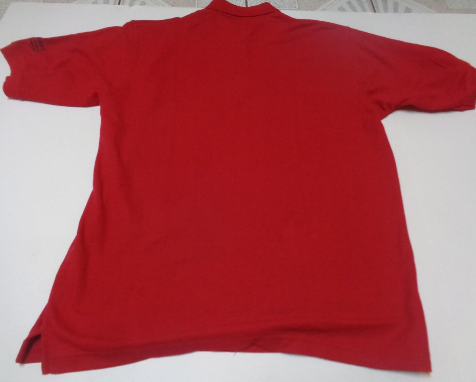Eco Express Polo Collar Shirt Red NWT Adult Sz L Uniform School Casual Dressy