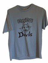 Baby Devils Mens Hanes Graphic T-Shirt Cotton Blend Short Sleeve M - $8.91