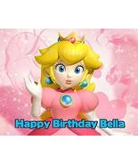 Super Mario Princess Peach Princess Toadstool Edible Image Photo Cake To... - $9.99