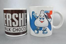 Hershey Milk Chocolate Bar Mugs Cups Candy Wrapper Label Kiss Set of 2 - $12.00
